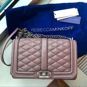Rebecca Minkoff Love Crossbody Quilted in Mauve